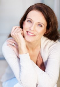 Woman with aging signs