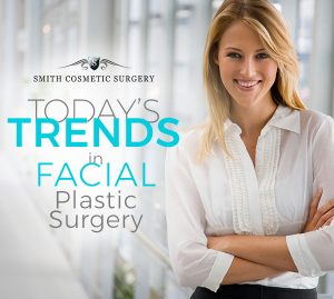 photo illustration of attractive woman representing trends in facial plastic surgery