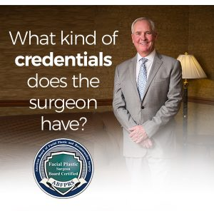 Denver plastic surgeon Dr. Brent Smith who specializes in facial plastic surgery