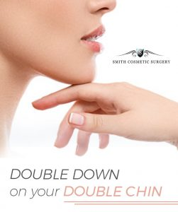 photo illustration of woman's chin after cosmetic surgery to resolve a double chin