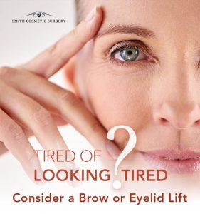 graphic representation of brow and eyelid lift