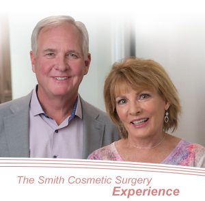 denver facial plastic surgeon Dr. Brent Smith and patient following a mini facelift